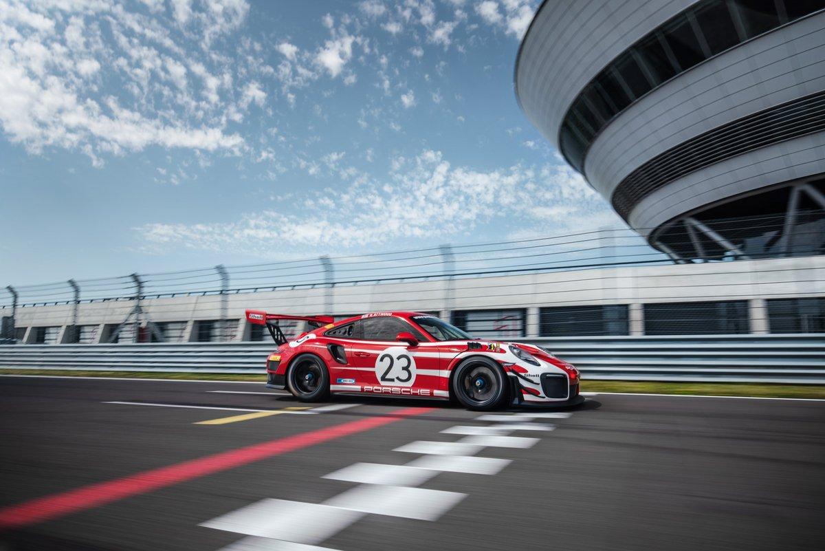 Der Porsche 911 GT2 RS Clubsport auf der Porsche Rundstrecke in Leipzig.